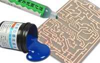 Placa sensible de producción de aceite azul para CCL (placa revestida de cobre) Placa de una cara circuito de placa de prueba PCB