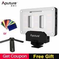 Aputure AL-M9 bolsillo LED Video cámara luz del estudio de fotos recargable luz CRI/TLCI 95 para Canon boda cine