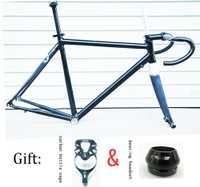 56 cm DIY cuadro de carbono bicicleta de carretera con carbono manillar y asiento de carbono puesto 41mm de auriculares