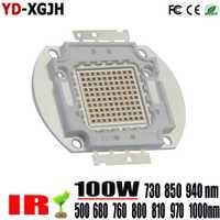 LED de alta potencia Chip 500nm 730nm 850nm 940nm 1000nm IR LED de 3 W 5 W 10 W 20 W W 30 W 50 W emisor de luz para 100 W lámpara LED cuentas
