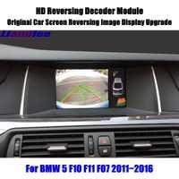 Liandlee para BMW 5 F10 F11 F07 2011 ~ 2016 HD decodificador trasera estacionamiento imagen pantalla Coche actualización de actualización