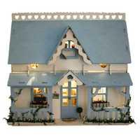 DIY casa de muñecas en miniatura con Kits de construcción de muebles casa 3D para muñecas juguetes para niños Regalo de Cumpleaños jardín rocoso