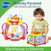 Bébé Jouet Musical Activité Cube Jouet Center avec 15 Fonctions et Compétences D'apprentissage jouets éducatifs pour Enfants Cadeau