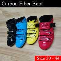 [Patines Boot] velocidad en línea zapatos arranque superior 2 capas de fibra de carbono para adultos mujeres hombres niños muchachas del muchacho tamaño 30-44