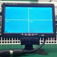 Pantalla LCD TFT de 9 pulgadas Monitor de entrada de 4 vías 4 Pantalla de visión trasera dividida para cámara retrovisora pantalla de TV de coche para camión de autobús