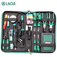 LAOA 53 unids de soldador eléctrico juego de herramientas de reparación destornillador utilidad cuchillo alicates mango herramientas para reparar Iphone Samsung