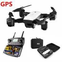 Profesional Drone con cámara doble 1080 p GPS Quadcopter FPV Drone RC Drone S20 con vídeo en directo y volver a casa plegable RC quadrocopter