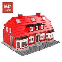 Lepin 17006 el rojo americano casa Ciudad Streetview modelo bloques kits creativo Castillo Legoinglys niños regalo de Navidad