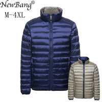 NewBang marque duvet manteau mâle canard doudoune hommes automne hiver Double face plume réversible coupe-vent Lightweigt chaud Parka