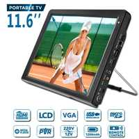 11,6 pulgadas HD portátil DVB-T-T2 Mini y Digital Color analógico LED TV reproductor de televisión compatible con TFT-LED pantalla HDMI entrada para coche