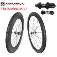 TT carretera de ruedas de bicicleta del carbón 50mm 88mm mezclado Racing juegos de ruedas 700C fibra del carbón de Toray de farsports Xiamen