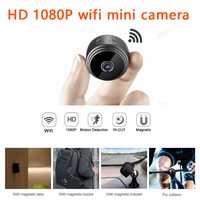 Micro WIFI Mini cámara HD con aplicación de Smartphone y visión nocturna IP seguridad del hogar cámara de vídeo bicicleta cuerpo DV soporte escondido tarjeta TF
