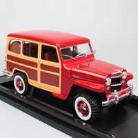 Las 1:18 a gran escala camino firma clásico Willys Jeep camioneta mini camión 1955 diecast vehículos modelo coches juguetes réplicas