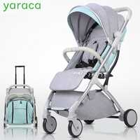 De Lujo cochecito de bebé 2 en 1 ligero cochecito de bebé caminar plegable SISTEMA DE VIAJE Cochecitos de bebé para recién nacidos bebé carro de transporte