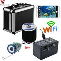 Yobang seguridad 50 M 2,4G Wifi APP cámara de vigilancia subacuática LED blanco Detector de pesca cámara Video FishFinder Cámara
