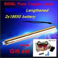 [ReadStar] RedStar tubo alargado estilo B008L alta quemadura láser azul lápiz puntero láser caja de metal 2x18650