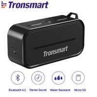 Tronsmart elemento T2 Altavoz Bluetooth 4,2 al aire libre resistente al agua altavoz portátil altavoz y Mini altavoz con Micro SD