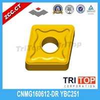 10 unids/lote 2014 Venta caliente ZCC tomografía YBC251 CNMG CNMG160612 CNMG160612-DR insertos de carburo de tungsteno de plaquitas de corte de herramientas