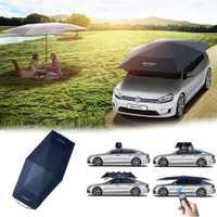 4,5 m plegable impermeable coche automático completo paraguas cubierta del coche Sun Shade UV cubierta de techo tienda de paraguas Protección Control Remoto