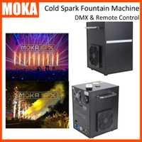 2 unids/lote frío chispa máquina de fuente de etapa máquina de fuego control remoto y control DMX para la boda