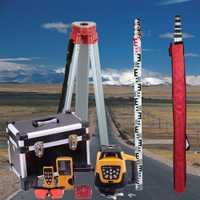 Marca nueva de 500 m rango de nivelación automática Rotary giratoria láser rojo nivel + trípode + personal