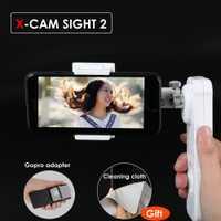 X-Cam vista 2 eje Smartphone de cardán sin escobillas de vídeo estabilizador móvil estabilizador Steadycam para iPhone Samsung teléfono