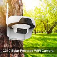 FREECAM Solar wifi Cámara HD720P activada por movimiento inalámbrica de hogar de la cámara de seguridad IP con PIR Sensor de movimiento al aire libre
