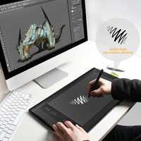 Electrónica tablero de dibujo gráfico dibujo tableta de dibujo de Tablet 10*6 pulgadas ratón Anime pintado a mano Anti-Fouling 5080 LPI