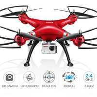 SYMA X8HG RC Quadrocopter Drone del regulador Video con cámara 8MP HD 2,4g 4CH RC helicóptero de Control remoto juguete volador helicóptero