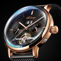 2019 nouveau AILANG montre automatique hommes mécanique horloge lumineuse étanche Tourbillon montres Steampunk luxe relogio masculino