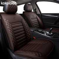 [Kokololee] asiento de coche del cuero de la pu fundas para dacia duster hyundai creta lada kalina mercedes w211 nissan qashqai auto accesorios