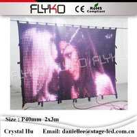 Durable P40mm 2x3 m impermeable pared de fondo LED de alta tecnología