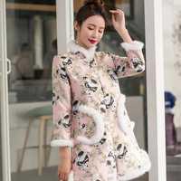 Mujeres invierno moda 2018 tendencias estilo chino parka 2018 abrigo invierno mujer Chaquetas invierno 2018 KK2607 X