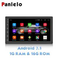 Autoradio Panlelo S6 2 Din Android 7.1 1080 P 7 pouces Quad Core 2 din unité de tête GPS Navigation Audio Radio pour Nissan Toyota 7.1