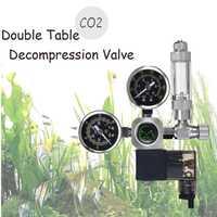 220 V a prueba de agua de acuario CO2 regulador G5/8 magnético solenoide válvula acuario contador de burbujas de tanque de peces herramienta CO2 control