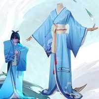 ¡Superventas! Disfraz de Onmyoji SSR Shiranui buzo Ali Cosplay traje de Kimono disfraz de Halloween para mujer talla adulta