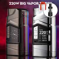 Original GTRS GT220 VV/VW Mod 220 W TC caja Mod cigarrillo electrónico mod vaporizador vapor grande vaping mod con 2x18650 batería
