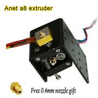Anet A8 MK8 extrusora kits Motor 3d impresora j-head Hotend I3 + envío 2 piezas 0,4mm boquillas 1,75/3mm abs/pla logística más rápido