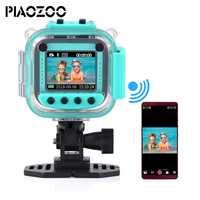 Los niños chico cámara de vídeo Digital juguete 20 m impermeable deporte acción cámara de múltiples idiomas precioso regalo de Navidad P20