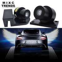 2 piezas de luz unids de sombra fantasma LED lámpara de bienvenida para coche alas de Ángel Logo Proyector láser para coche luz de advertencia de puerta LED para BMW Honda