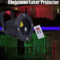 Navidad láser proyector al aire libre luz de la estrella del jardín IP65 impermeable ir Control remoto rojo verde luces láser RG dec