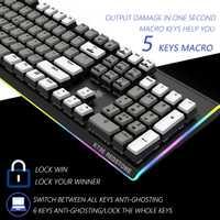 HEXGEARS Teclado mecánico Gaming Pro Backlight teclados Backlight twclado ordenador Mekanik Klavye RGB Clavier Teclado Gamer