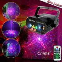 Chims etapa luz RGB Disco láser 96 patrón láser DJ luz Led efecto de luces de fiesta colorido Proyector láser mostrar Navidad bar de música