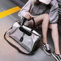 Bolsa grande de las nuevas mujeres de moda bolsa de viaje de gran capacidad hombres bolso de bolsa de lona bolsa de gimnasio
