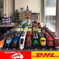 DHL educativos 02008, 02010, 02009, 21005, 21006, 21007, 02038, tren 02039 Buillding bloques ladrillos Compatible Legoinglys 60052 de 60098 a 60051