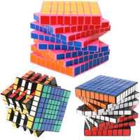 8*8 ShengShou HuangLong 8 capas Magic Cubes 8x8x8 profesional velocidad cubo Antistress juguete para los niños 8,4 cm