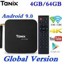 Caja de TV inteligente Android 9,0 Tanix TX6 Allwinner H6 4 GB RAM 64 GB ROM 32G soporte 4 K h.265 2,4G/5 GHz Dual WiFi BT USB3.0 reproductor de medios