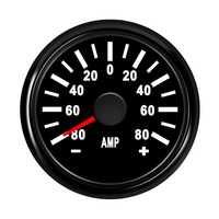 52mm coche Ampere metros Amp indicadores amperímetros 0-80A para Auto barco ATV 12 V-24 V con rojo retroiluminación