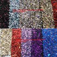 90x134 cm Pieles sintéticas Faux cuero Telas Glitter cuero Big Glitter multi-colores brillo cuero para Costura arco DIY p739