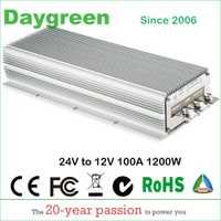 24 V a 12 V 100A DC convertidor de 24VDC a 12VDC 100AMP regulador de voltaje reductor módulo transformador buck pesado